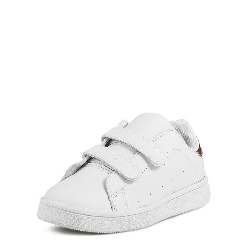 4f657092b4b Παιδικά Sneakers Mimsoga C100-1 Λευκό Χρυσό   Studiotzuliani.gr